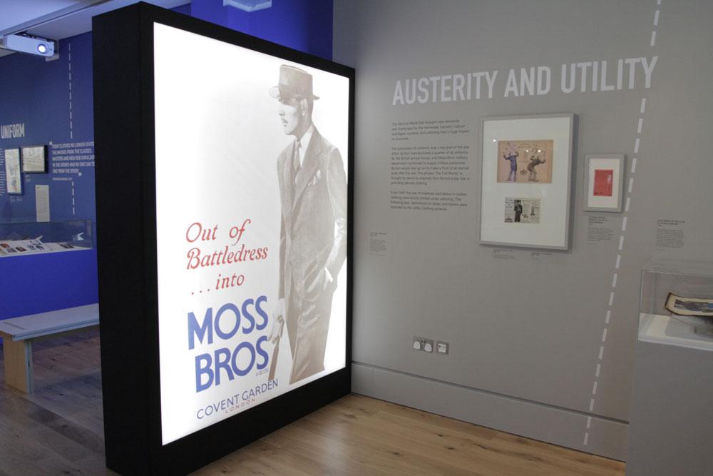 Moss Bros poster, 1945