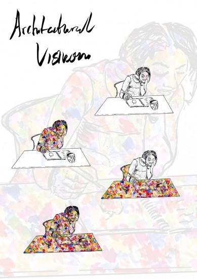 Tari Eguruze's work in progress around future visions for spaces which nurture creativity.