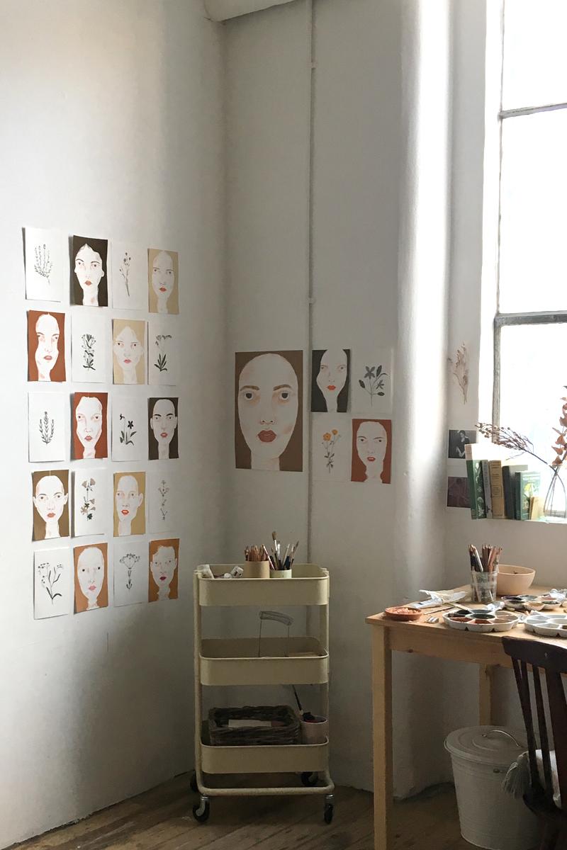 Alessandra and her studio.