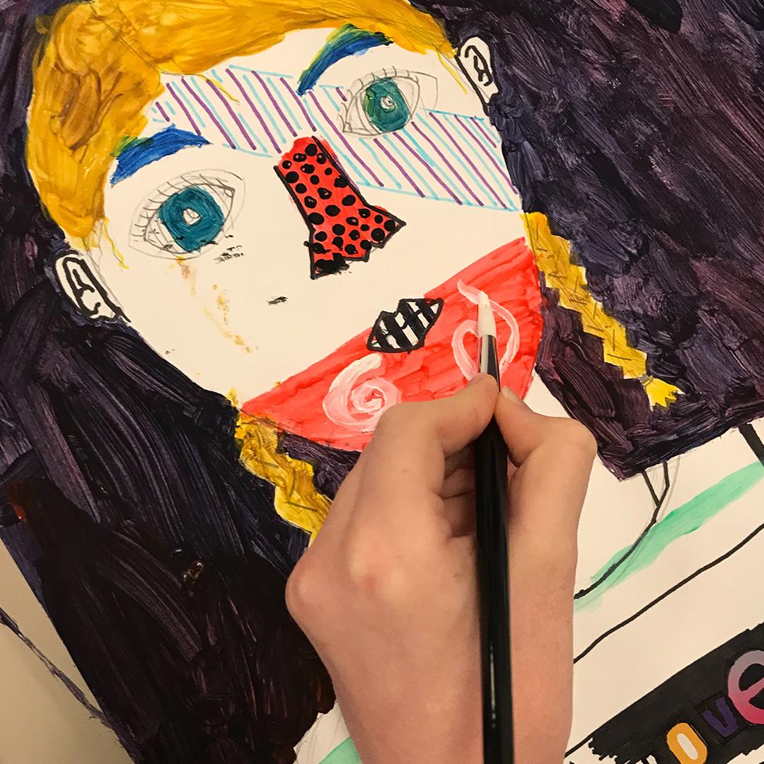 Kid's painting.
