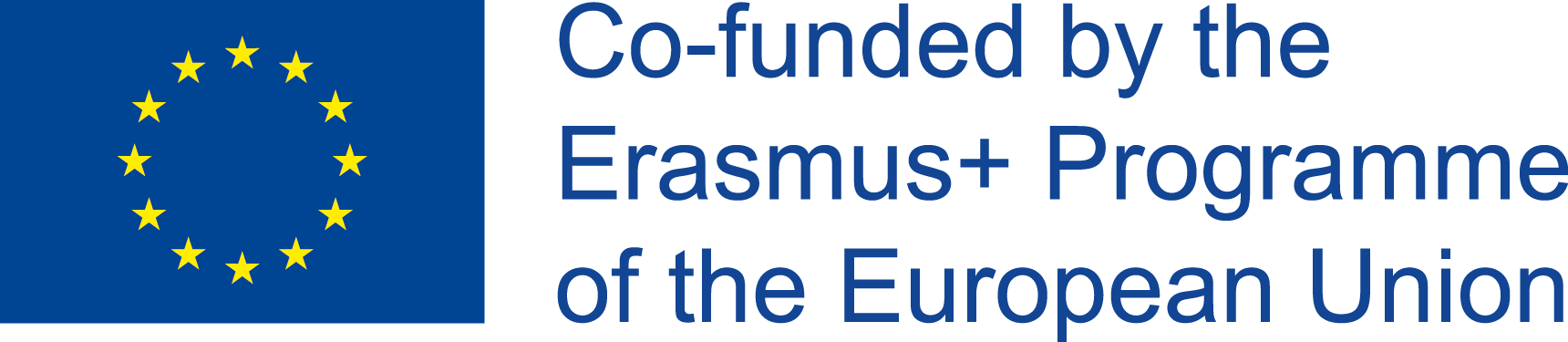 EU logo with a caption that reads 'Co-funded by the Erasmus+ Programme of the European Union
