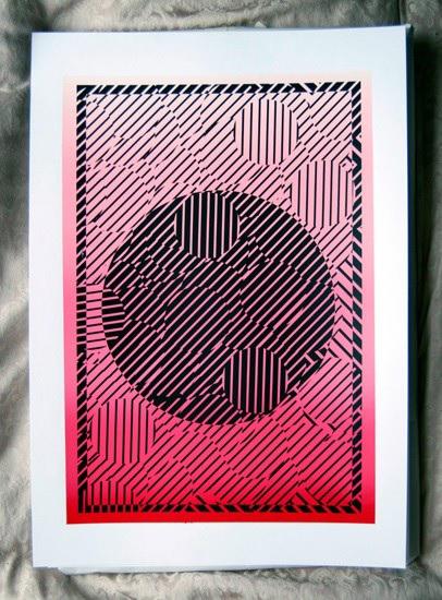 Katy Binks B W Gradient 'B+W Gradient', 2013, Limited Edition Print, Edition of 10, Screen print on 300gsm Paper, 39.5 x 56 cm