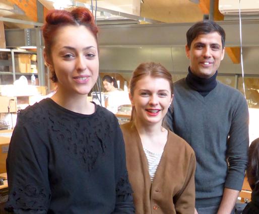 Central Saint Martins student Rebecca Skelton, Zana Ajvazi, Salah Din