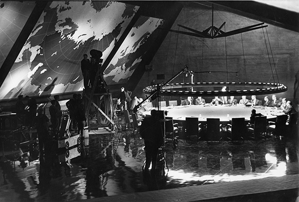 Photograph War Room Set. Image from the Stanley Kubrick Archive held at the University of the Arts London supplied with thanks to the SK Film Archives LLC, Sony Colombia, the Kubrick family, and University of the Arts London