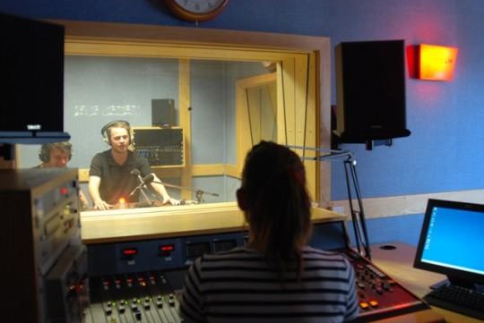 Students in LCC's broadcast media studio