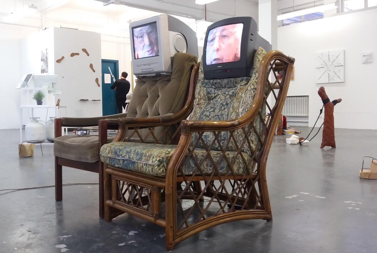 'Armchair Installation - Chris and Margaret' by Rosie McGinn