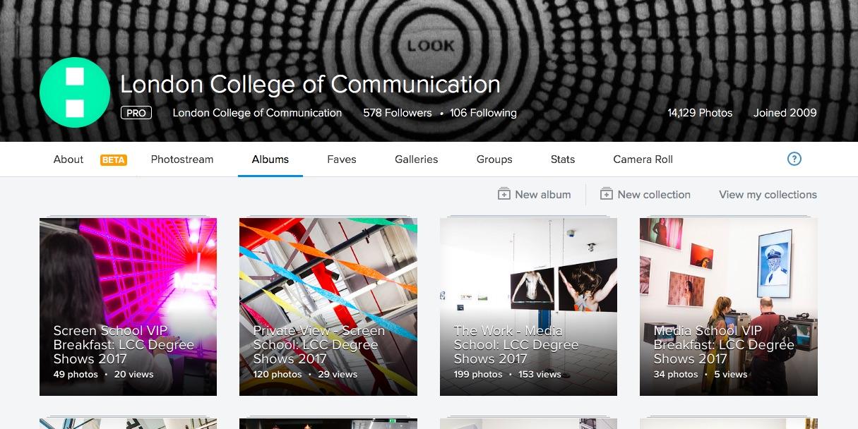 LCCLondon Flickr screenshot
