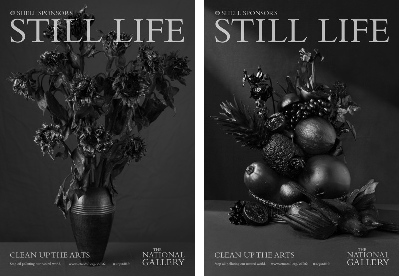 Beth Johnson's 'Clean up the Arts' campaign posters.