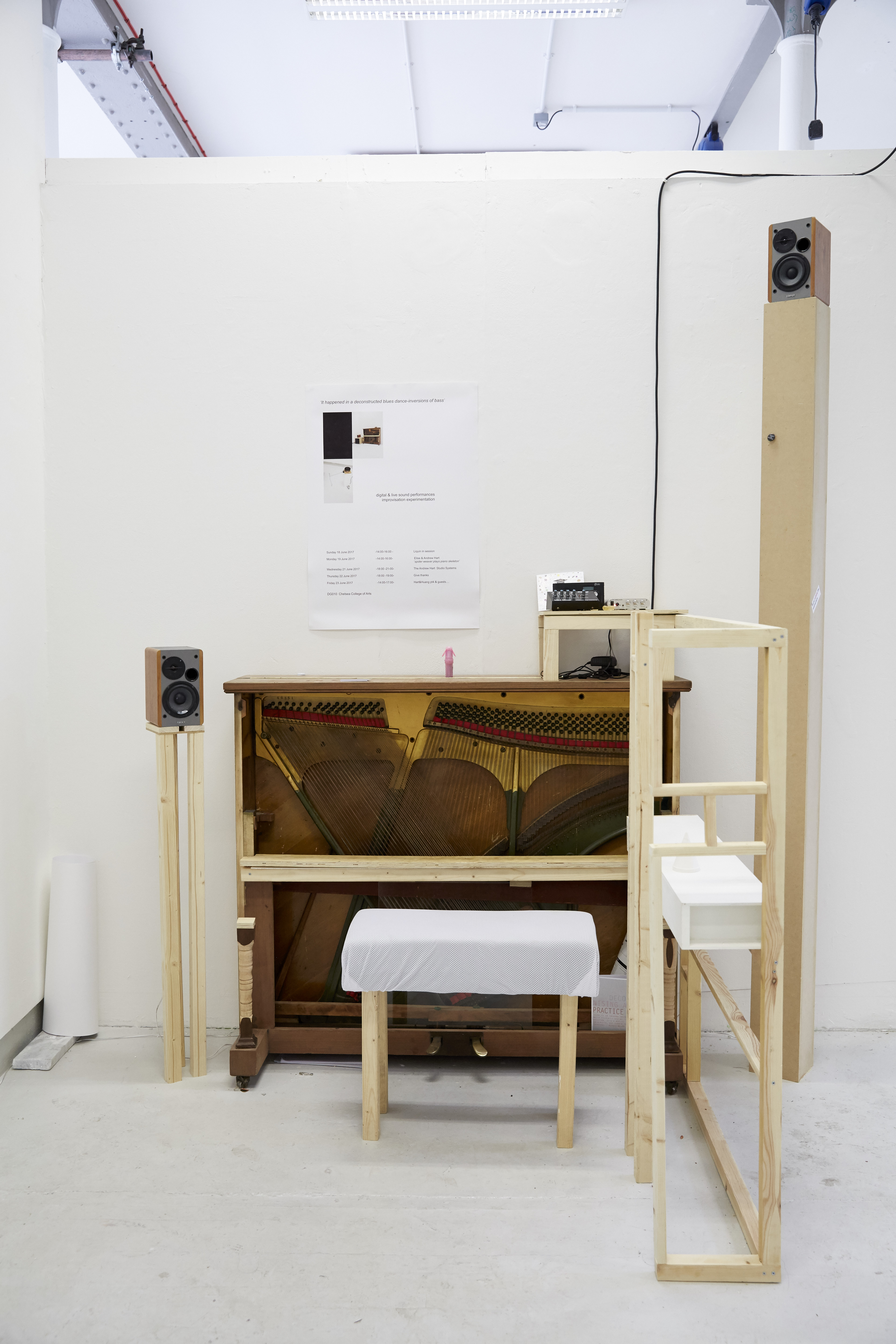 Piano sound installation by andrew hart
