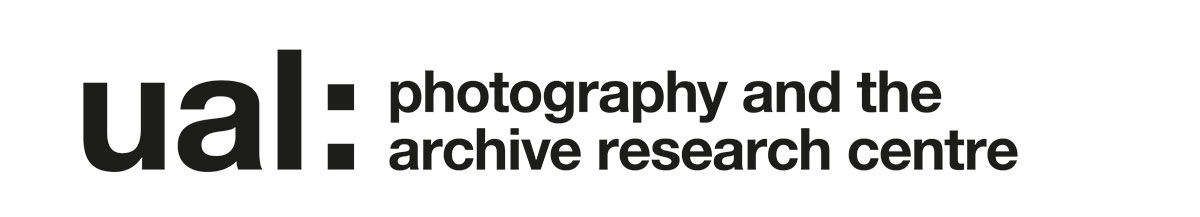 Logo reads: UAL - Photography and the Archive research centre.