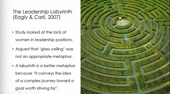Screenshot of a presentation slide showing a maze