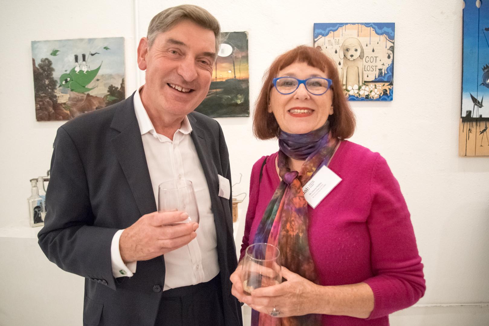 Nigel Carrington and alumna Edwina Pellikka