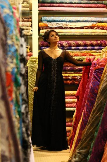 Stacy Stube and fabrics