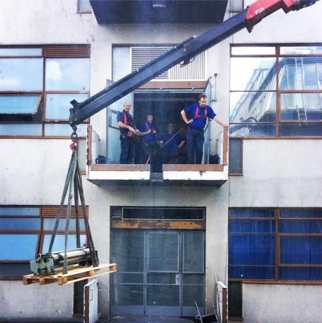 Instagram crane