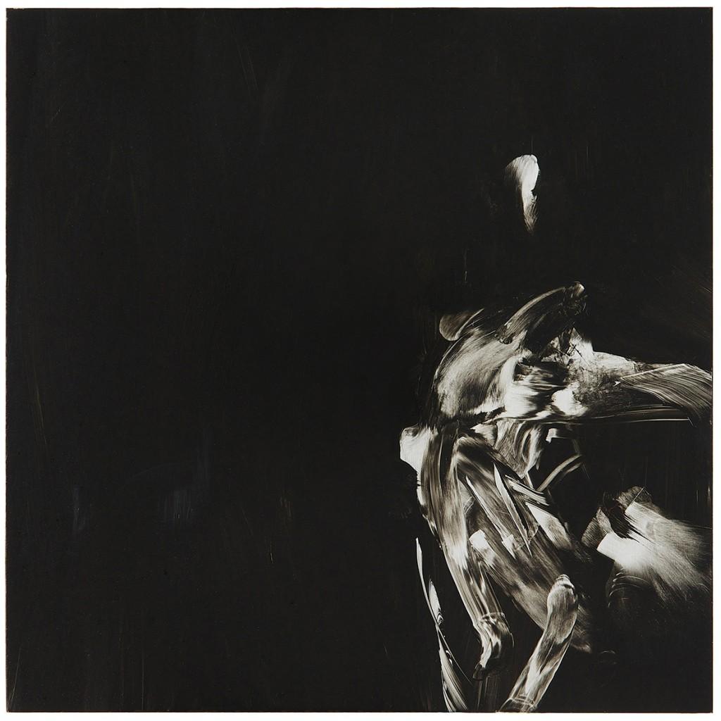 Jim Threapleton: Painting III. 2014. Oil on Aluminium. 30 x 30cm