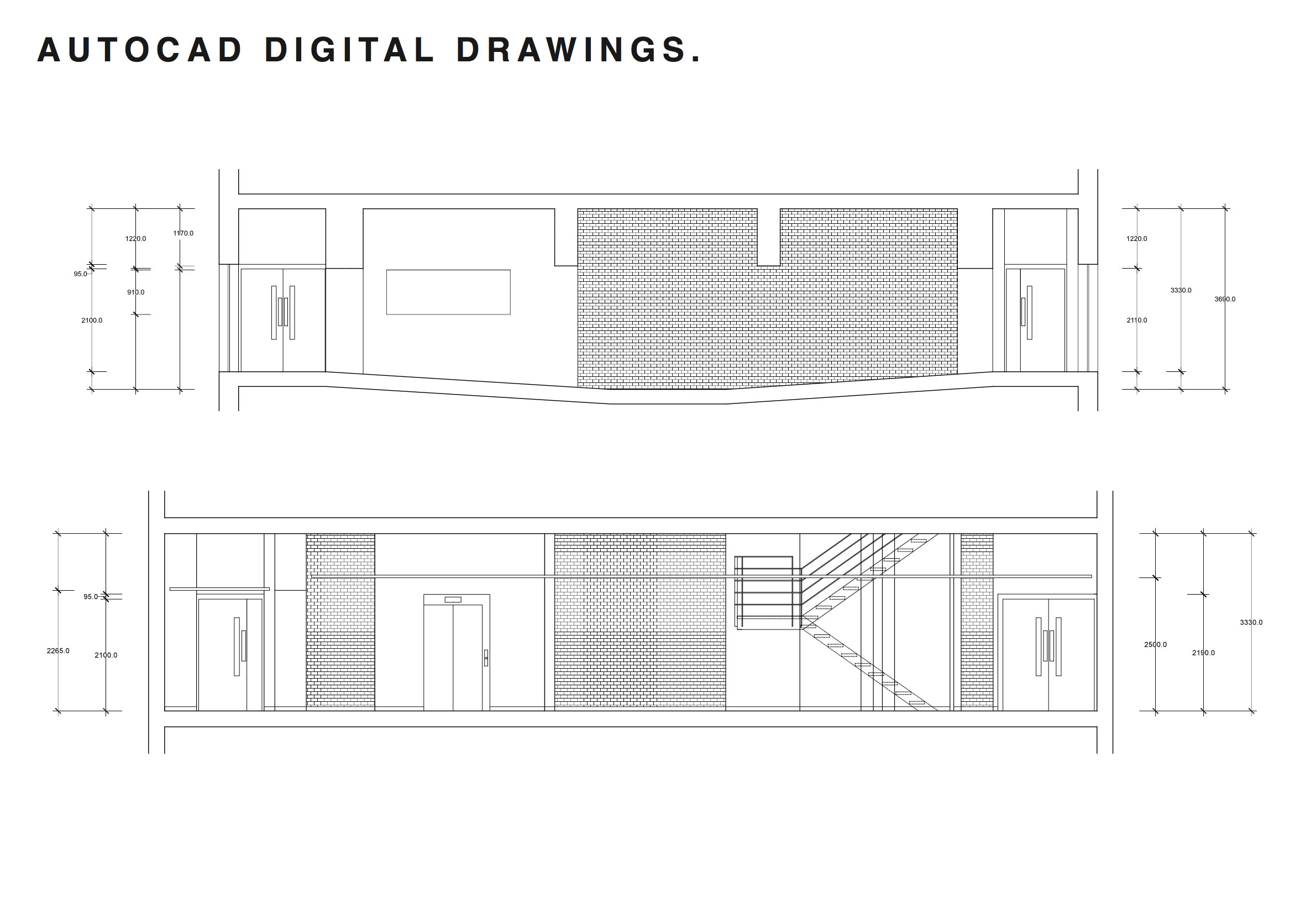 Elevation Digital Technical Drawing