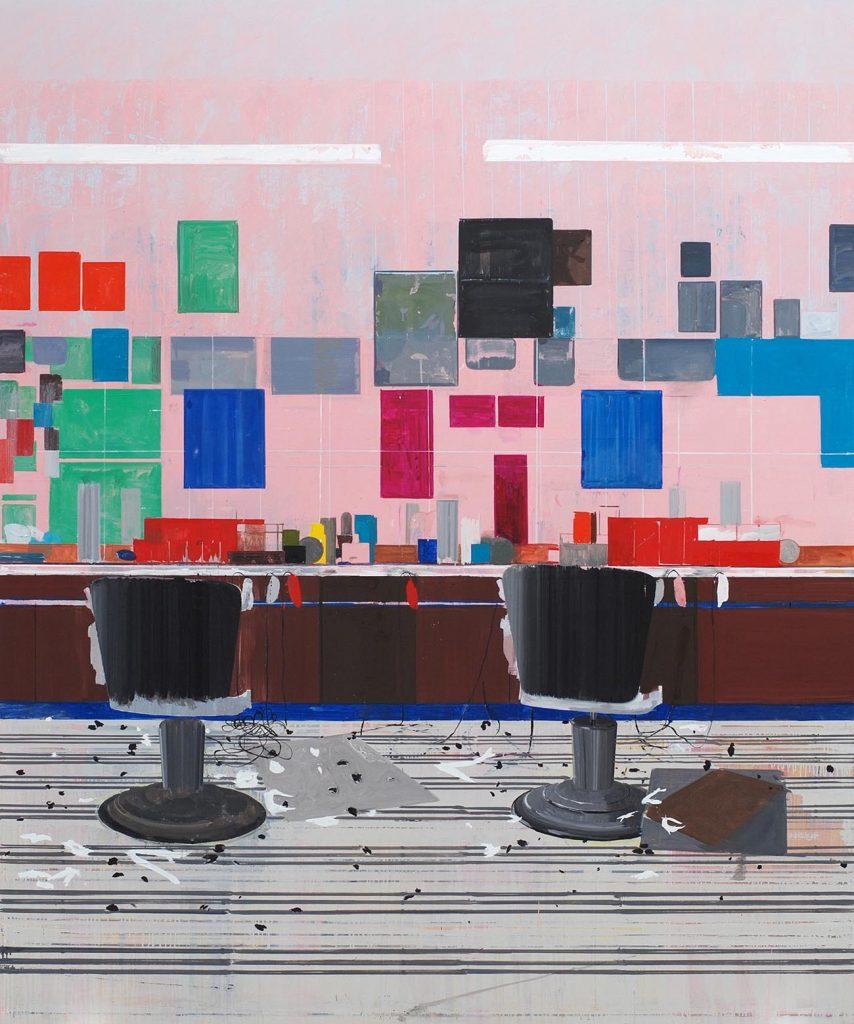 Hurvin Anderson, Flat Top, 2008