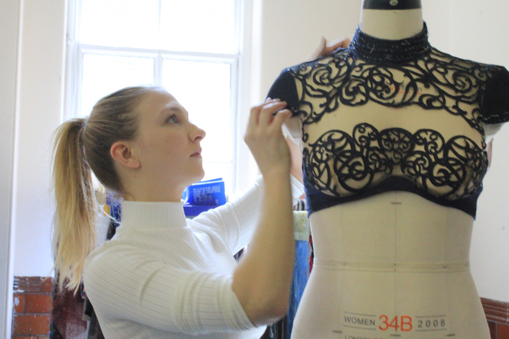 BA Fashion contour student, Katie Bickford-Sawkings