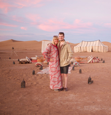 majestic disorder camping in the Sahara for our upcoming issue