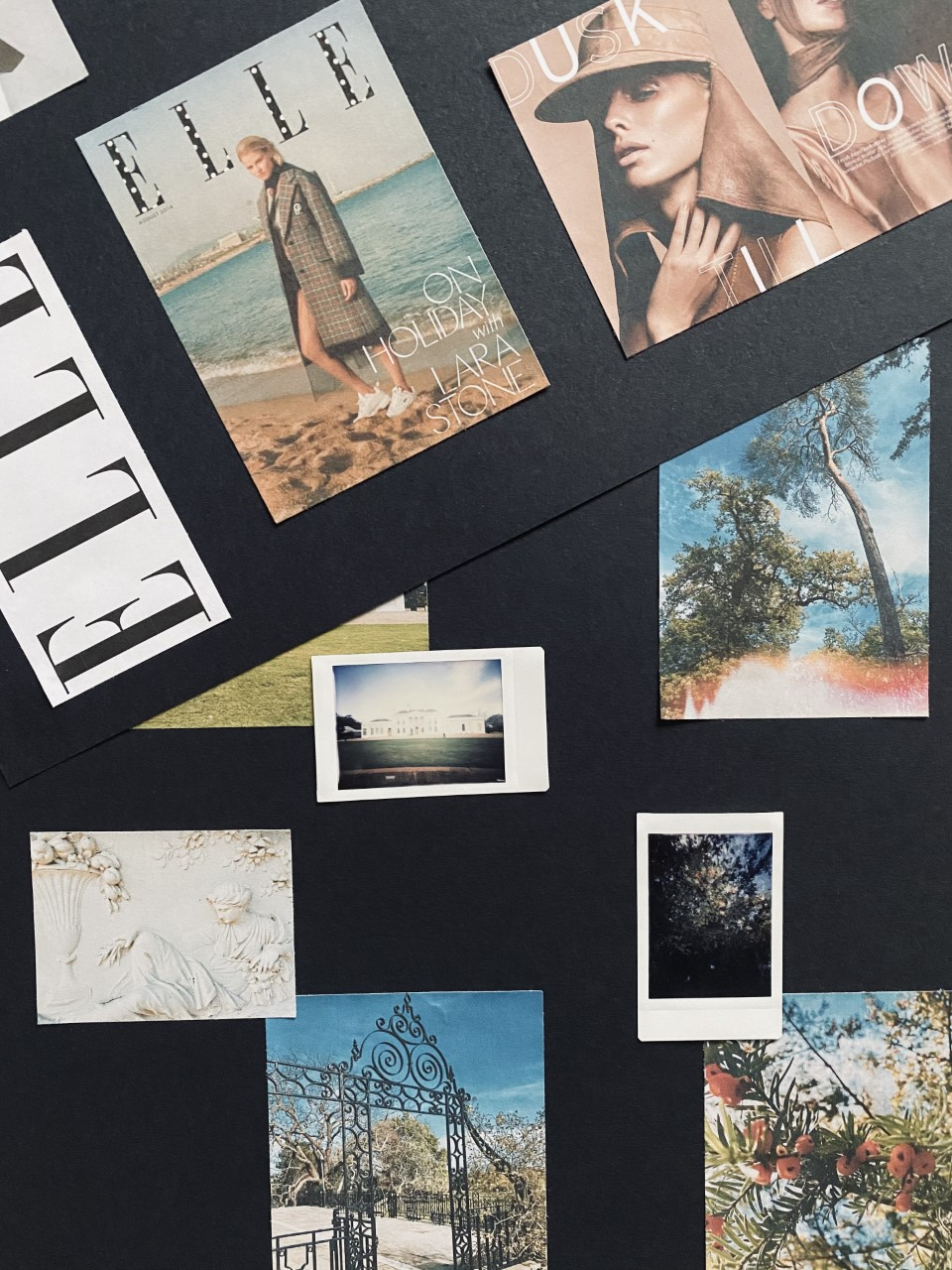 A mood-board by Molly Hood full of fashion magazine covers