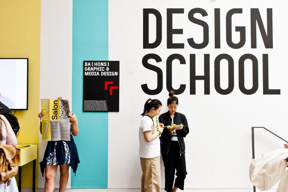 Students in design school summer show.