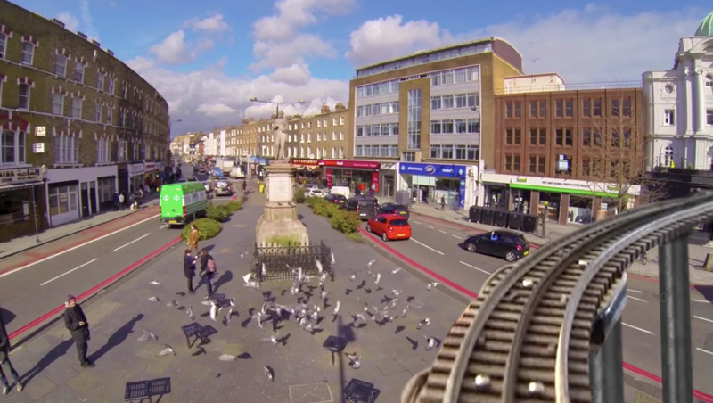 'The Rooftop Line' recorded life on Camden High Street in real time