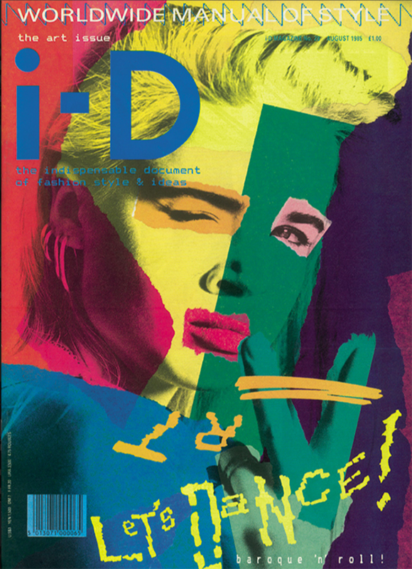 Designs to make you smile, i-D magazine cover, August 1985, Let's Dance issue