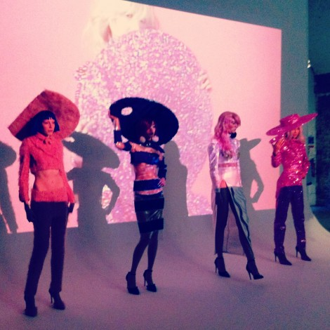 Christian Cowan-Sanluis' presentation at London Fashion Week AW14. Image courtesy of Charlotte Gush.