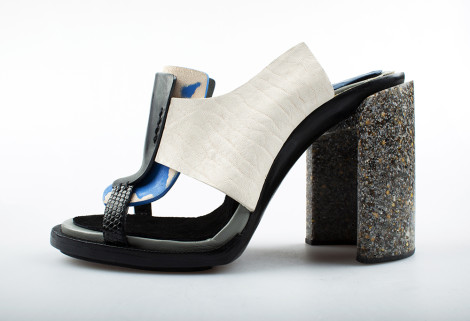 Womens High Sandal, Hollie White