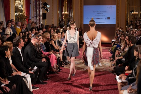 Nayana Kodesia's collection (BA Hons Fashion Design and Development)on the LDNY Runway show at the Women Inspiration Enterprise Awards