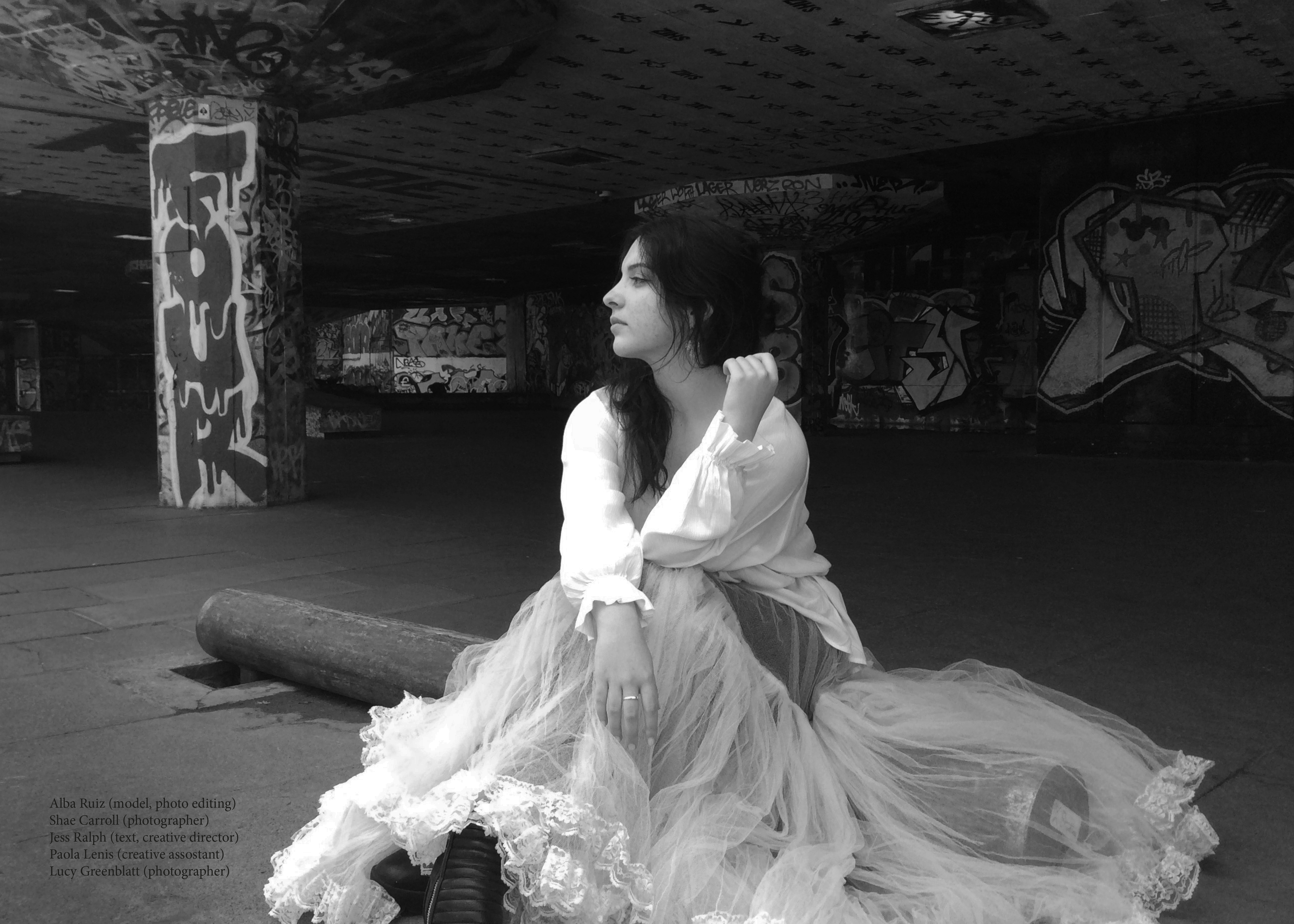 A photograph taken by pupils for their fashion magazine