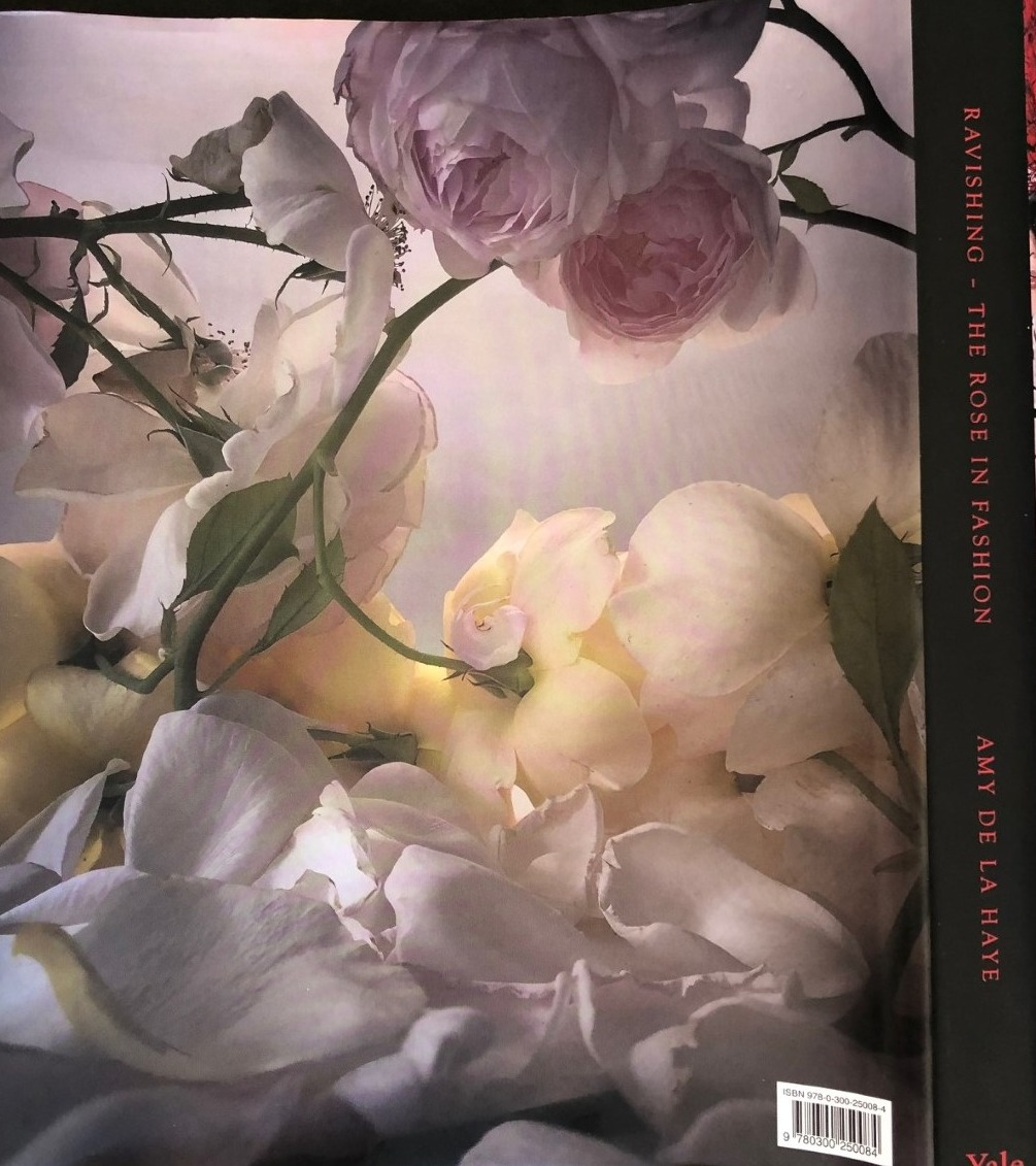 book jacket rear showing roses