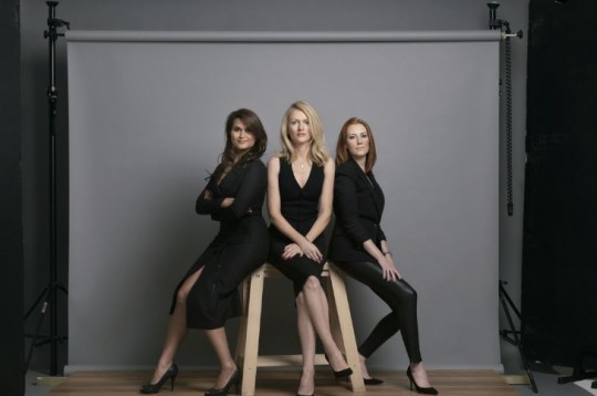 Lindy Staadecker (left) with Anoesjcka Gianotti and Michelle Parekh, the founders of Students of Design