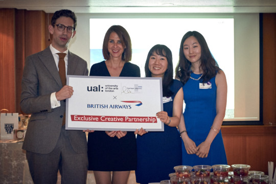 Andrew Fotheringham from British Airways with Caroline Archer, Soo Young Cho and Songhee Lee
