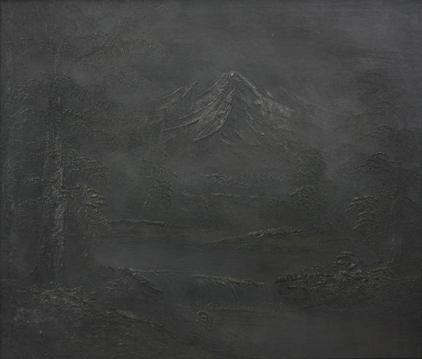 Peiyuan Jiang's award-winning work, SPH4038 graphite pencil on found painting - 2012