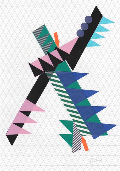 Esther Ellard Tape 004 Tape , Mixed Media original collage, Mixed Media on Paper, 21 x 29.7cm (unframed)