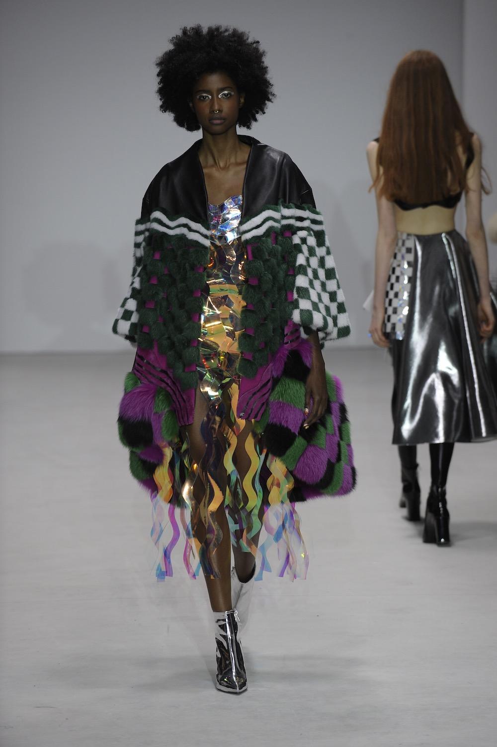 MA Fashion Design Technology Womenswear graduate Eren Hayashi. Image by Roger Dean.