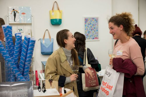 Guests networking in not just a shop