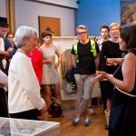 Exhibition curators, Jeffie Pike Durham and Professor Amy de la Haye