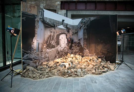 Lou Macnamara 'WatchingTheWar' 2014 Installation 5 x 5 x 3 metres