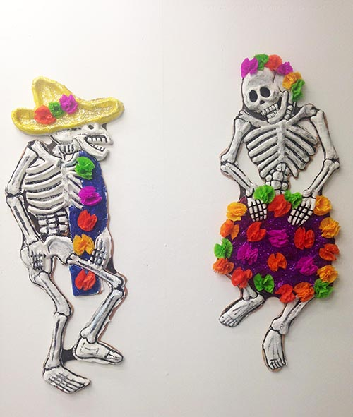 Day of the Dead artwork on display in the Triangle Space