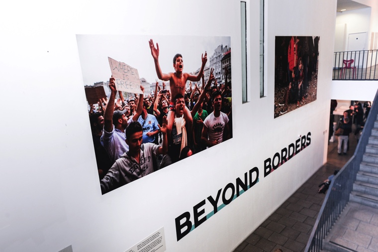 Work from the Beyond Borders Exhibition. Image © Ana Escobar.