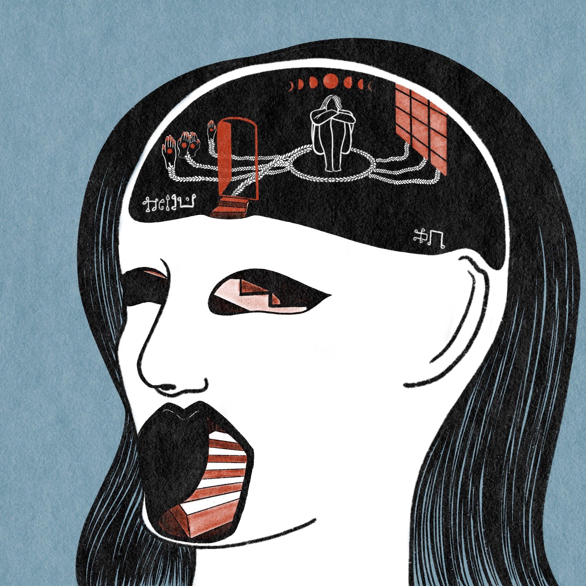 Amna Albaker drawing.