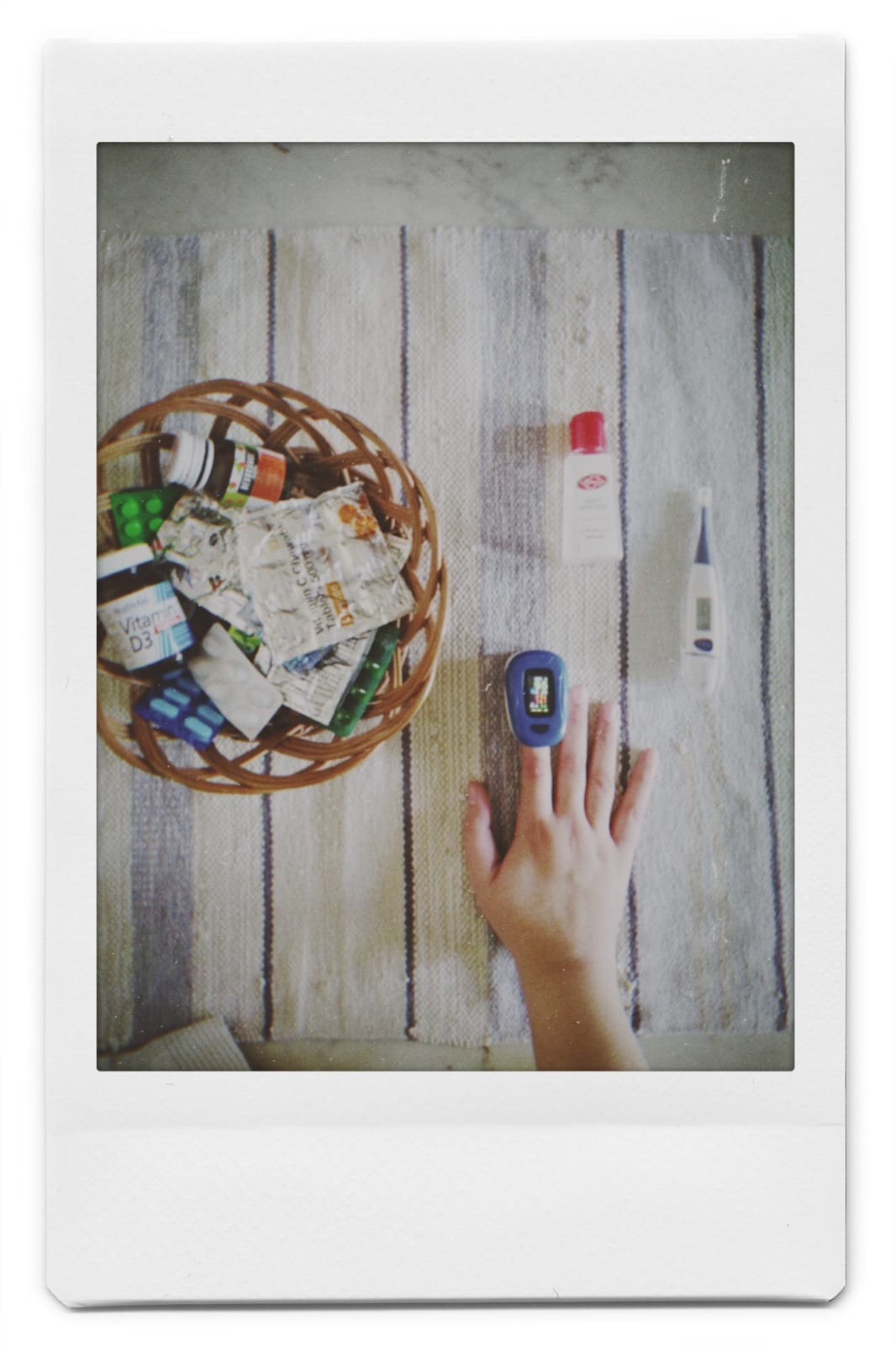 medication with hand taking test
