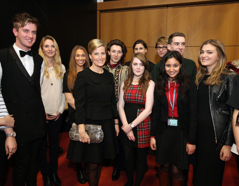 HRH The Countess of Wessex visits  John Prince's Street, London College of Fashion