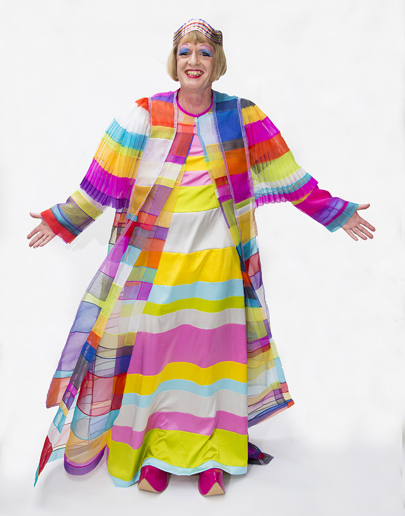 Image of Grayson Perry in his new Chancellor's robes