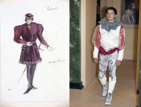 Richard III Costume by Jeanetta Cochrane, 1944, alongside costume design for Richard III in 2014