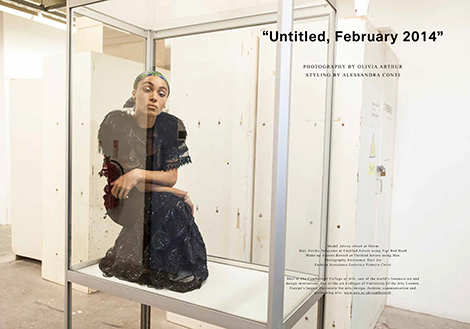 Fashion spread shot at Camberwell College of Arts for Lurve Magazine Issue 08, Spring/Summer 2014.