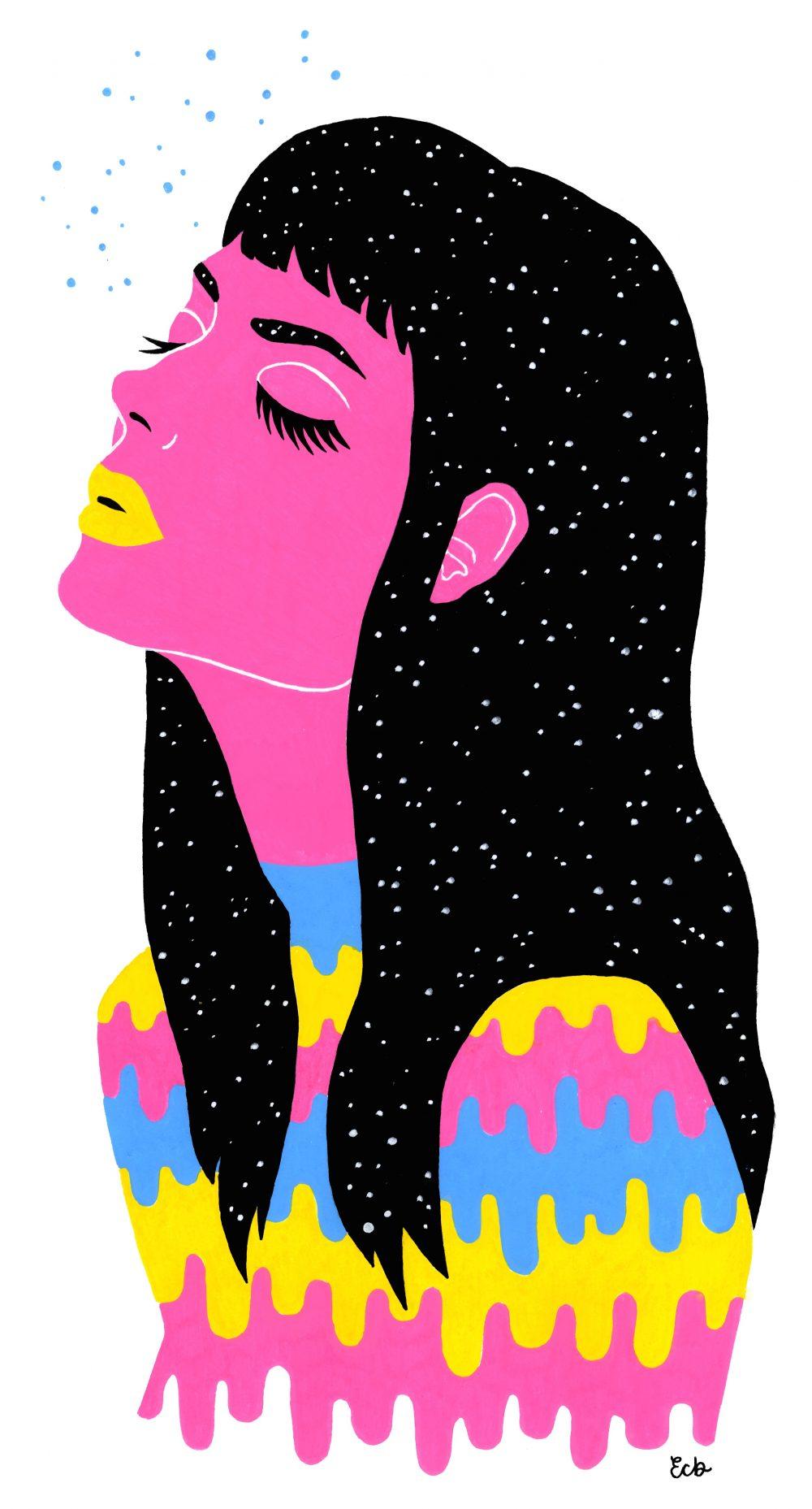 BA (Hons) Fashion Illustration student Emily Brinkley.