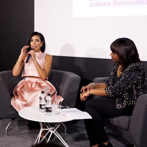 Charlene White (right) at LCC with Julissa Bermudez